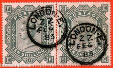 "SG. 128. j124. ""EF EG"". 10/grigio-verdastro. un ottimo 6th FEBBRAIO 1883 CD"
