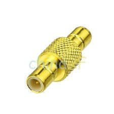 SMB adapter plug to plug male pin straight connector adapter