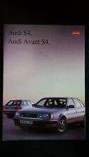 Depliant Brochure Audi S4 AUDI AVANT S4  - 1992 -  pagine 31 + scheda tecnica