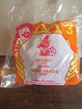 McDonalds  Toy # 3 Halloween 1998 GRIMACE Pumpkin CANDY Dispenser    SEALED NEW