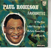 45TRS VINYL 7'' / DUTCH EP PAUL ROBESON / FAVOURITES / OL' MAN RIVER + 3