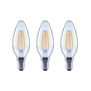 EcoSmart 60-Watt Equivalent B11 Dimmable Clear Glass LED Bulb Daylight (3-pack)