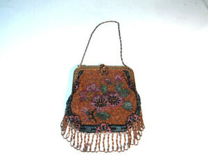 Antique Steel Beaded Bag Purse Made in France