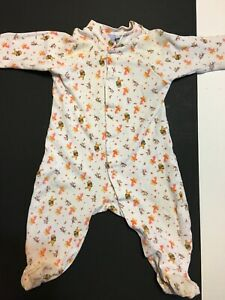 Disney Pooh One Piece Baby Size 6-9 Months Long Sleeve PJs Footies