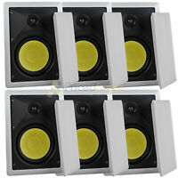 "6 Pack 6.5"" In Wall Speakers Lot 2 Way 60W RMS DCM by MTX Premium Home Audio"