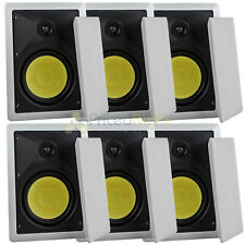 """6 Pack 6.5"""" In Wall Speakers Lot 2 Way 60W Rms Dcm by Mtx Premium Home Audio"""