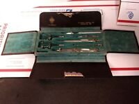 Vintage Drafting Tool Set  In Original Case Dividers +