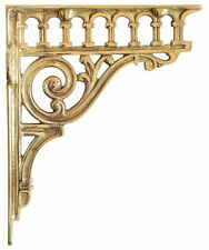 "Single Solid Brass Classical Column Bracket – antique wall brackets (21cm / 8"")"