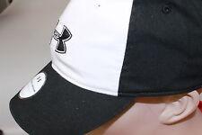 Under Armour Golf Gear calore Berretto Da Baseball PREFORMATO picco BLACK & WHITE COTTON