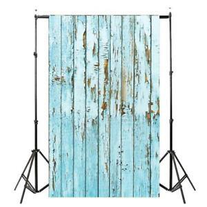 3x5ft Blue Wood Vinyl Studio Photography Background Backdrop Photo Props