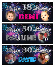 """40""""x15"""" Personalised Birthday Party Banner Decoration 18th/21st/30th/40th/50th"""