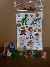 Toy Story Mini Figures Set (8) 1998 Toys By Yugin & Disney Theme Park Magnet Set