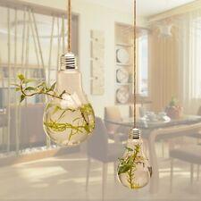 Bulb Ball Shaped Glass Hanging Plant Terrarium Flower Vase Wall Wedding Decor 1#