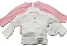 Koala Kids Baby Girl Preemie Pink/white L/s Kimono Side Snap Shirts 2 PK Set