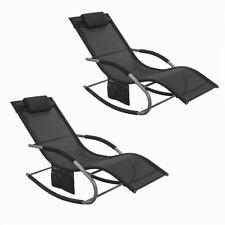 Sedia Universale per Il Tempo Libero Tessforest Tessuto di Ricambio Nero per sedie Zero Gravity Sedia Pieghevole con Lacci Divano da Giardino AOD panchina da Patio