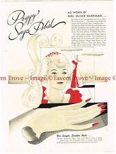 Original 1938 Peggy Sage Nail Polish  Mrs Oliver Harriman 14 inch Paper Ad