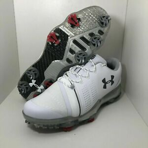 Under Armour UA Spieth 3 Golf Shoes Mens Cleats White (3022260-102) Size 8 US