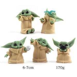 Star Wars Baby Yoda Grogu 5 PCS Action Figure Gift Kids Toy Cake Topper Decor