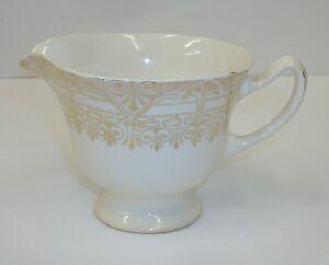 Vintage Stetson Greek Key China Dinnerware 22 Kt Gold Creamer Cream Pitcher