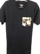 SERENGETEE PUG T-SHIRT Women Small Black Pug Dog Pocket New Without Tags