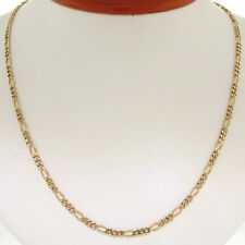 """14k Solid Yellow Gold 22"""" 3.2mm Figaro Link Chain Necklace w/ Lobster Clasp 12g"""