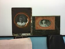 Lot of Two Glass Negatives 5x7, 2 Negatives Two Female Portraits