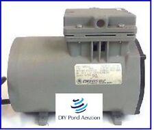 Thomas Compressor / Vacuum Pump 607CA32 115V Rebuilt - 50+ PSI Aeration PUMP!