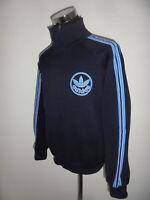 vintage 80`s ADIDAS Trainingsjacke oldschool Sportjacke blau 80er Jahre M/L