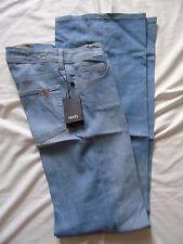 £179 NOTIFY (ABSINTHE) SMART BLUE-BLEACHED WIDE LEG/FLARED JEANS W25 L36