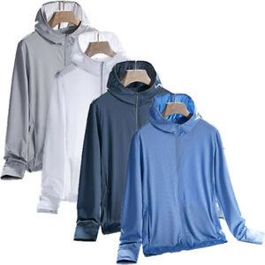 Quick Dry Jackets Men's Windbreaker UV Coat Camping Hiking Breathable Coats