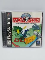 Monopoly (Sony PlayStation 1, 1998) PS1 Black Label Complete Tested