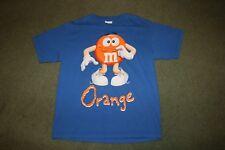 M&Ms T-shirt Blue Orange Top Men's or Women's Candy Food M & M Character Sz Med.