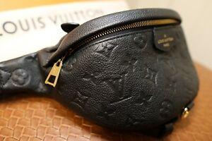 NEW Louis Vuitton Monogram Empreinte Bumbag Black/Noir Leather with tags M44812