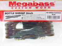"Megabass - BOTTLE SHRIMP 3"" #02 GREEN PUMPKIN BLUE"