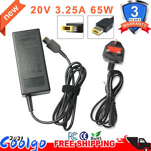 20V 3.25A 65W AC Power Supply Adapter USB Charger For Lenovo Thinkpad Laptop