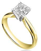 Diamond-Unique 1ct Princess Cut Engagement Ring 9ct Gold