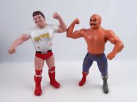 WWF LJN Rowdy Roddy Piper & Iron Sheik Wrestling Figures Fair Condition