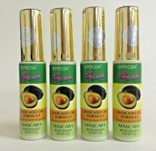4 Pack Rimel Con Aceite De Hueso De Aguacate / Mascara With Avocado Seed Oil