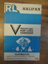 HALIFAX v WARRINGTON  31/08/80