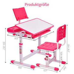 Kinderschreibtisch Schülerschreibtisch Verstellbar mit Schublade + Stuhl + DHL