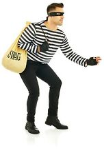 Mens Bank Robber Costume Kit for Adult Burglar Thief Villain Fancy Dress One Siz