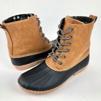 Report Womens 9 Rain Boots Insulated Waterproof Ankle Lace Up Wool Duck Boot