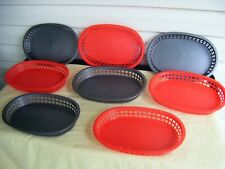 Commercial Quality Kitchen Tablecraft Oval Reusable Food Serving Plastic Baskets