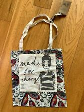 BNWT White Stuff Made For Change Tote Bag Shopper Cotton floral/fish pattern NEW