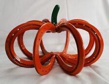 Large Horseshoe Pumpkin for Fall, Halloween, Thanksgiving, Decoration Hand Made