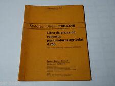 Teilekatalog / Libro de piezas de repuesto Perkins Diesel Motor 4.236, St.1965