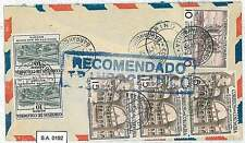 LIONS  FLAGS: POSTAL HISTORY : COLOMBIA - AIRMAIL COVER to ITALY 1956