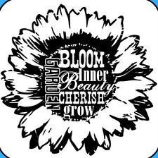 Inkadinkado Flower Clear Acrylic Mini Stamp Bloom Inner Beauty   Buy 3 Free Ship