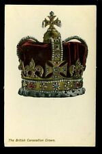 Royalty THE BRITISH CORONATION CROWN Embossed early PPC