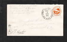 US Army WWII APO 446 France Air Military Occupation Censor Signed Cover q7